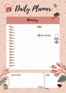 Daily Planner with Garden Supplies