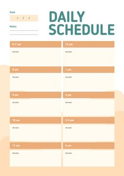 Daily schedule and to-do list