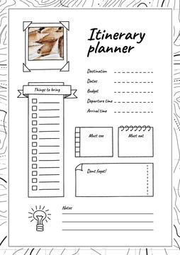 Itinerary Planner with Shells