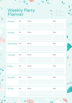 Weekly Party Planner in Party Attributes Frame