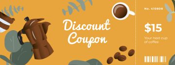 Discount Offer with Cup of Coffee and Grains