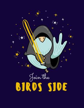 Cute Bird Jedi