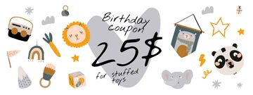 Birthday Offer with Cute Toys