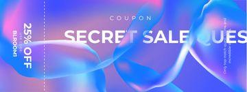 Secret Sale announcement on digital pattern