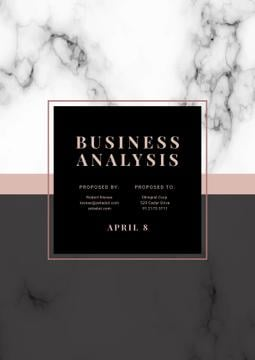 Business Analysis services offer on Marble pattern