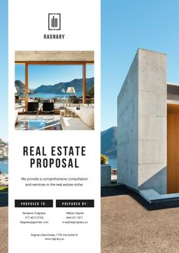 Real Estate offer with modern Building