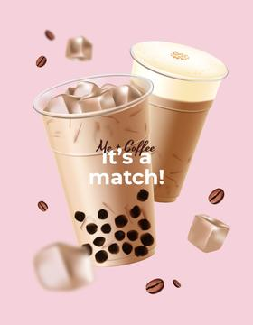 Coffee Offer with drinks in cups