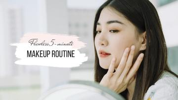 Makeup Routine Tips with young Woman