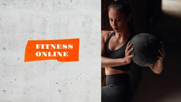 Woman coach at Online Fitness classes