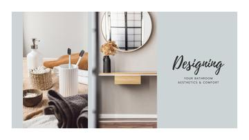 Design Studio ad with Bathroom interior