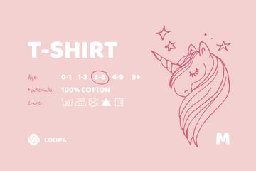Kids Clothes care instructions with Unicorn