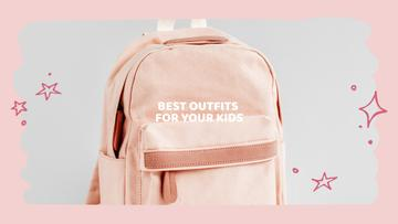 Kids Store ad with Backpack