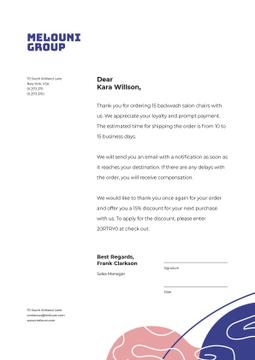 Business Company order confirmation and gratitude