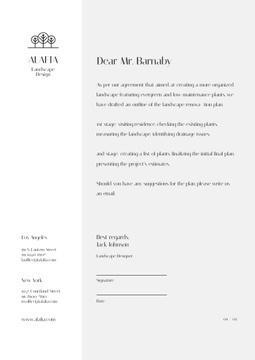 Landscape Design Agency agreement