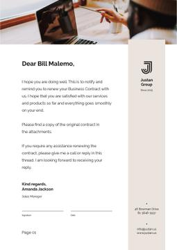 Business Contract confirmation