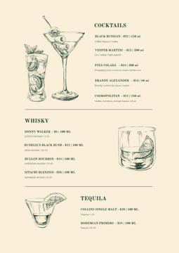 Bar Cocktails sketches