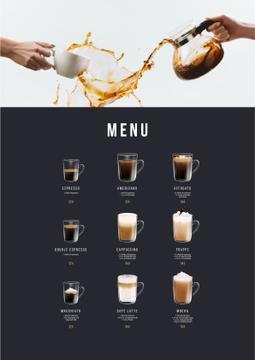 Coffee drinks variety