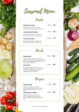 Seasonal Summer dishes
