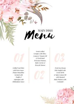 Restaurant Main Dish list