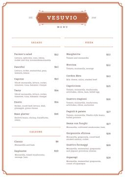 Italian Restaurant dishes
