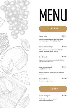 Restaurant dishes list