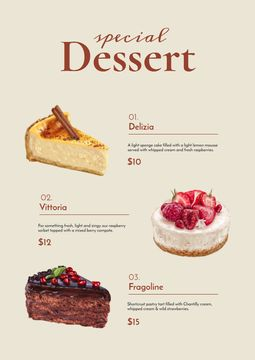 Bakery promotion with delicious Desserts