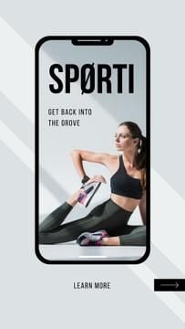 Sports App promotion with Woman training