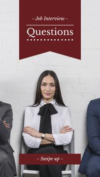 Successful Business people in Interview Queue