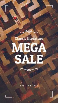 Literature Sale  ad on Labyrinth
