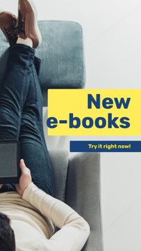 E-readers Offer Man Reading Book