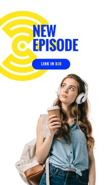 Education Podcast Ad Woman in Headphones