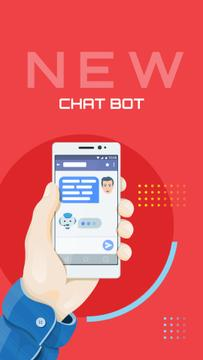 Online Chat on Phone Screen