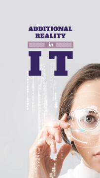 Technology Inspiration Woman using smart glasses