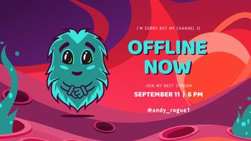 Game Stream Ad with Cute little Monster