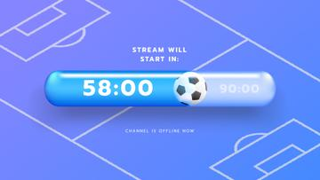 Game Stream Ad with Sports Field illustration