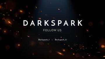 Streaming Channel Ad with Golden glares on dark