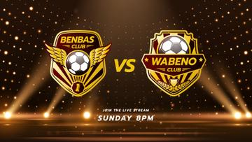 Football Match announcement with Badges