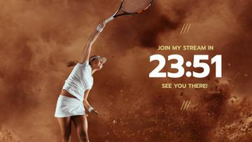 Game Stream Ad with Tennis Woman Player