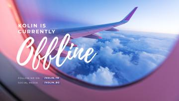 Streaming Blog announcement with Plane in sky