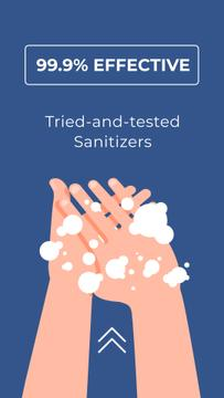 Cleansers ad with Hand Washing