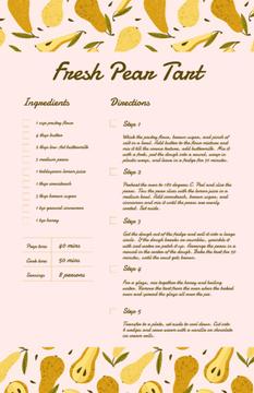 Fresh Pear Tart
