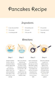 Pancakes Cooking Process