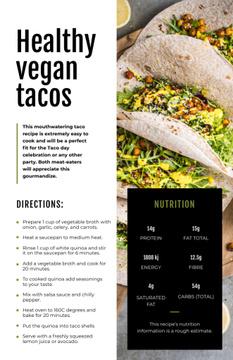 Vegan Tacos dish