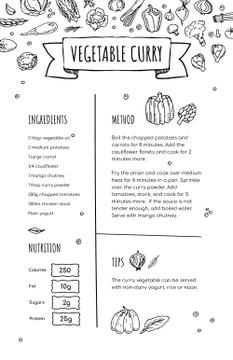 Vegetable Curry Cooking process