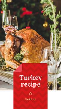 Festive Dinner whole Roasted Turkey