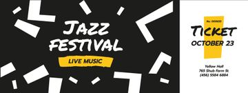 Jazz Festival Announcement with Chaotic Figures