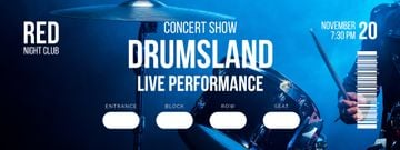 Concert Show with Musician playing Drums