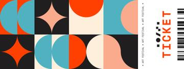 Art Festival with Abstract Geometric Figures