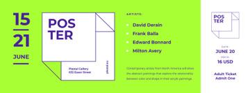 Contemporary Art Exhibition Announcement
