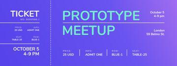 Business Meetup on Purple Gradient